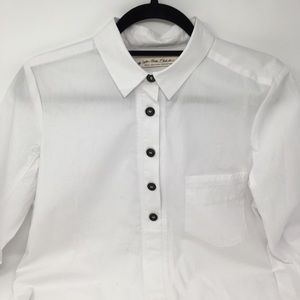 Free People We the Free White Half Button Down
